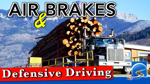 Defensive driving for truck drivers and air brakes work together to make you a safer, smarter CDL driver!