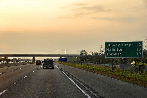 There are specific places to enter and exit a limited access highway, freeway, or interstate.