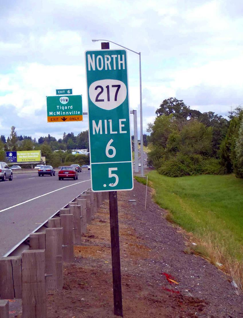 Mile markers are the most important navigational tool when driving along freeways.