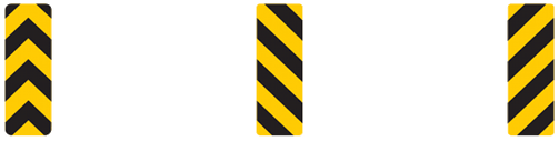 The hazard obstruction signs are everywhere on our roadways. These signs marked fixed objects you could potentially crash into and tell you on which side to pass.