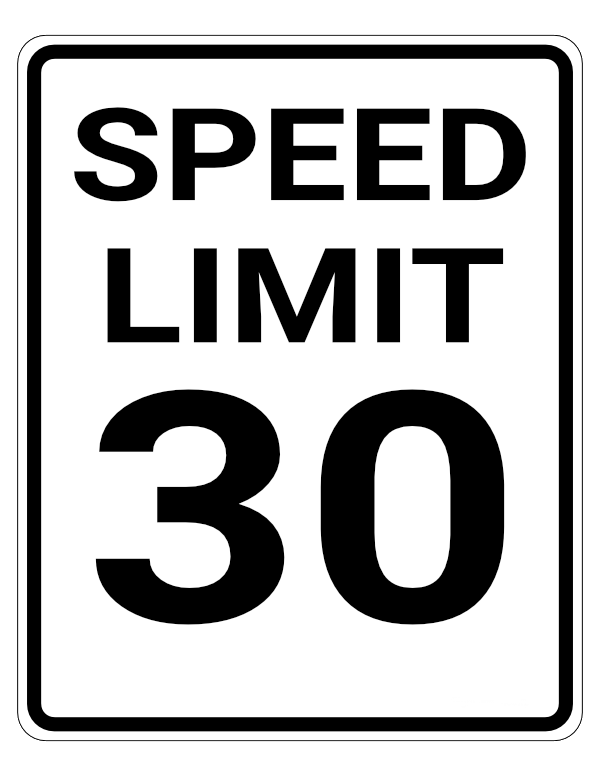 The speed limit inside Florida cities is 30mph unless otherwise posted.