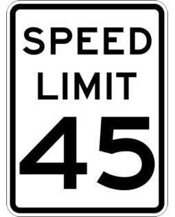 The maximum speed limit in state of Maine is 45mph unless otherwise posted.