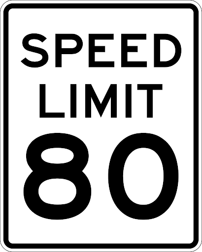 The maximum speed limit in the province of Alberta is 80kph unless otherwise posted.