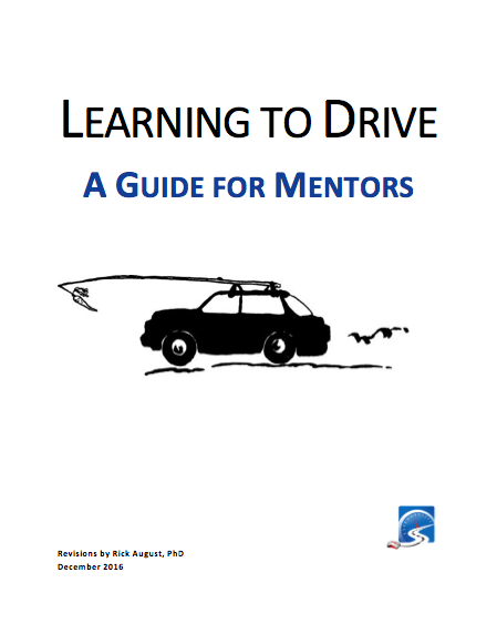 A Guide for Mentors provides information, tips, and techniques for mentors working with new drivers who are preparing for a road test.