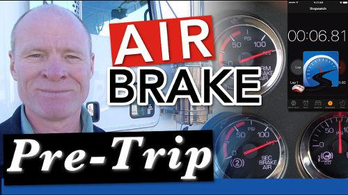 Learn how to do the complete air brake pre-trip inspection with this video.