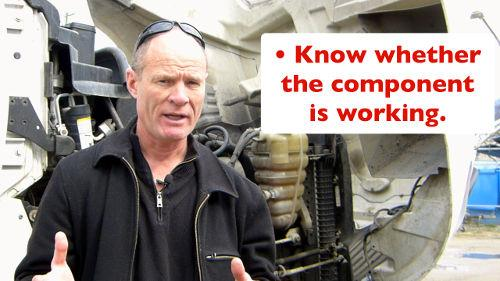 When doing a CDL Pre-trip Inspection you are determining if the components are working, not damaged, and not leaking.