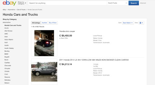 eBay, AutoTrader, Craigslist and other local classified will help you to start looking to buy a second hand vehicle.