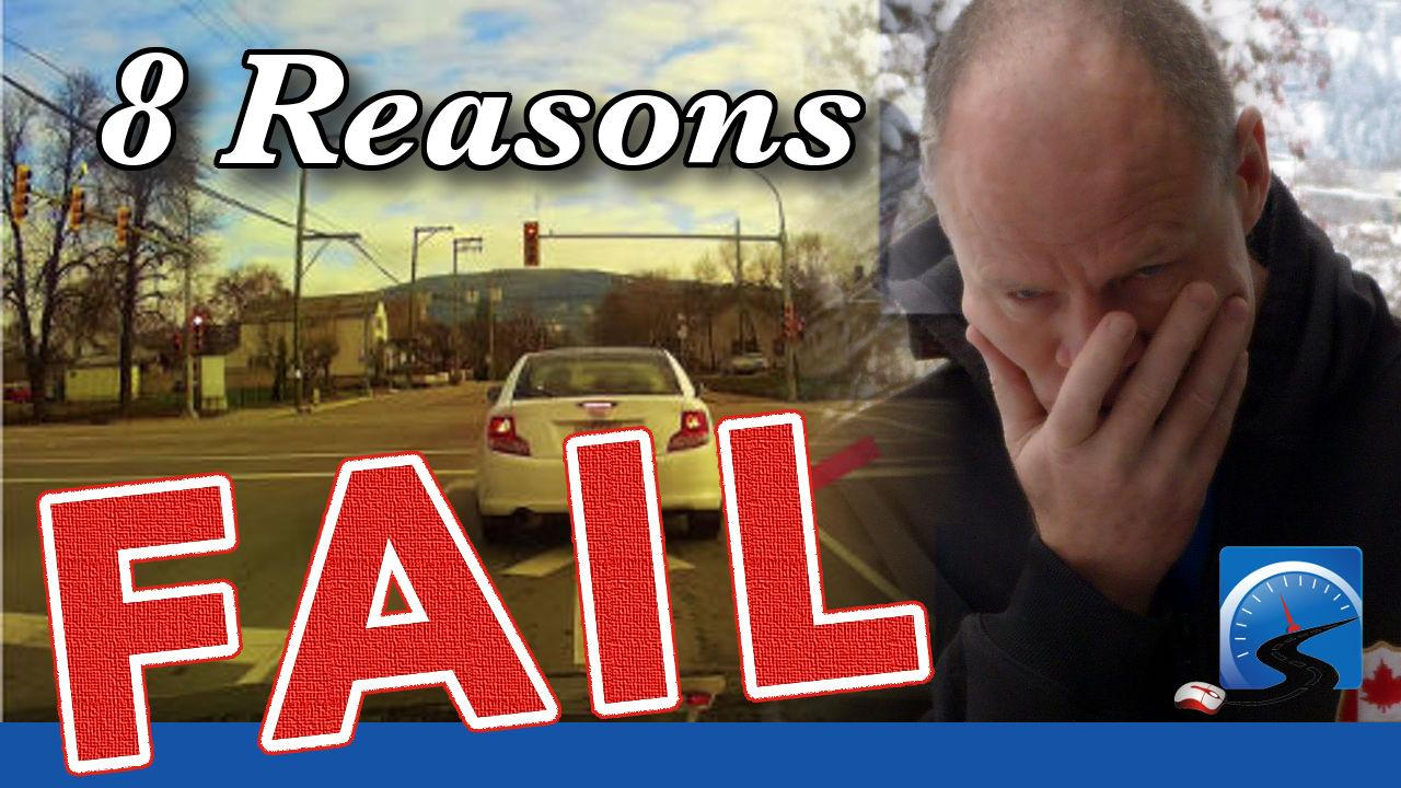 See the 8 reasons why new drivers fail a road test. Know these and you're well on your way to passing your road test.