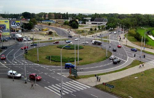 Roundabouts have less points of conflict, move more traffic per hour, and reduce urban noise pollution.