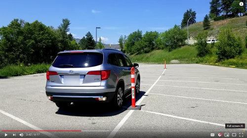 Reversing along the pylon on the passenger's side of the vehicle teaches you how to use the mirrors on the vehicle. An imperative skill to staying safe in your vehicle.