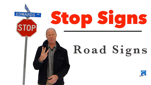 Know the 3 possible stopping positions at a controlled intersection. Watch the video.