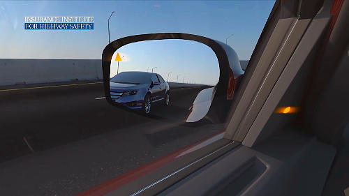 Blind spot detectors and convex mirrors will help you know when other road users are in you blind areas.