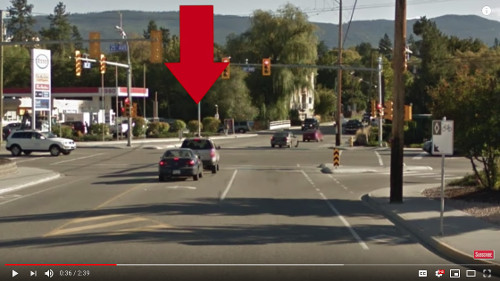 If you're turning left at a complex intersection, ensure that you get in the correct lane as soon as it starts for good defensive posturing.