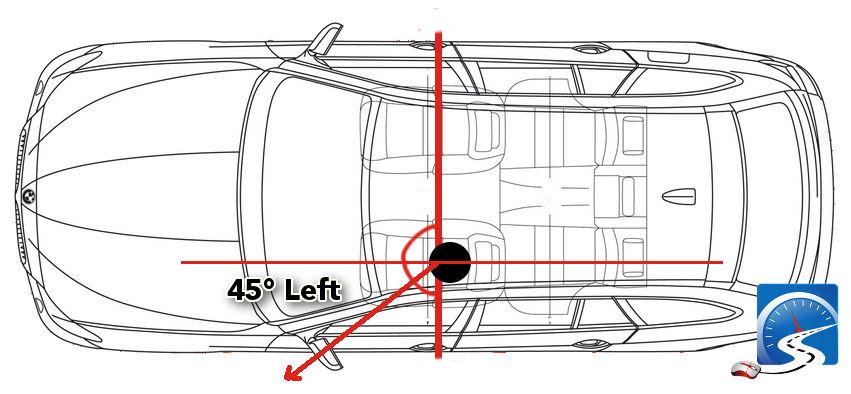When parking in a tight space, you may have to increase the entry angle to make it into the space.