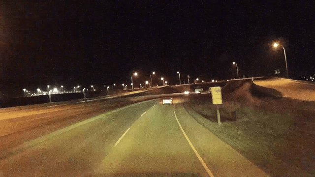The Auto-Vox D1 Dash Cam shoots video at night well, especially if there is other traffic and streetlighting.