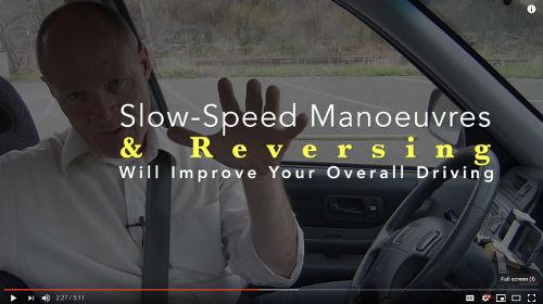 Spending time reversing and doing slow speed manoeuvres in a parking lot will improve your overall driving.