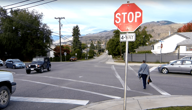 The rules are different for 2-way STOP signed intersections in comparison to 4-way STOP signed intersections.
