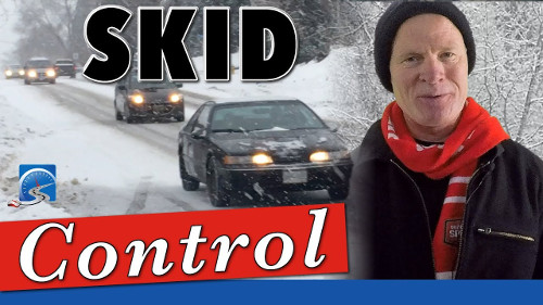 Learn how to brake on ice in the winter and recover from a skid.
